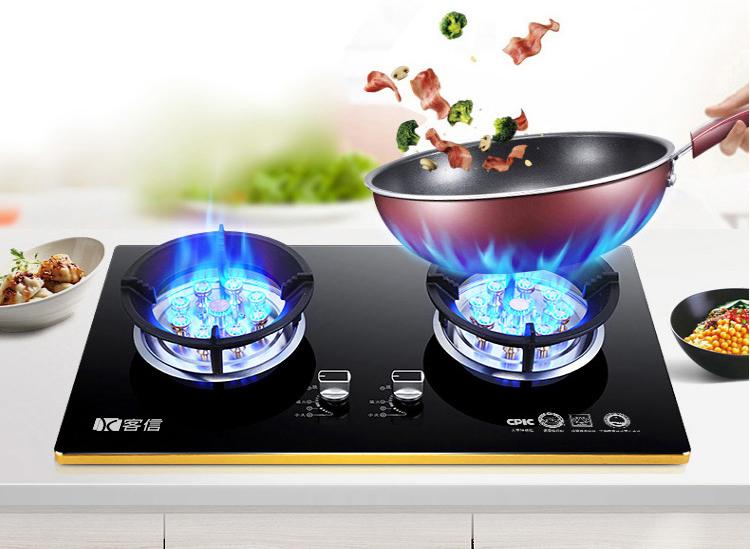 客信嵌入式热流量高的燃气灶煤气炉具